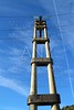 concrete electric tower pole retro vintage industry