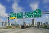 Miami Downtown Florida road signs  Key Biscayne