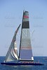Boat race on Mediterranean water, sailboat