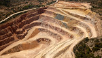 Aerial view of a quarry in Valencia Spain