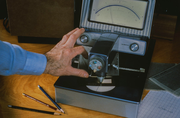 The color desitometer used for measuring separations.