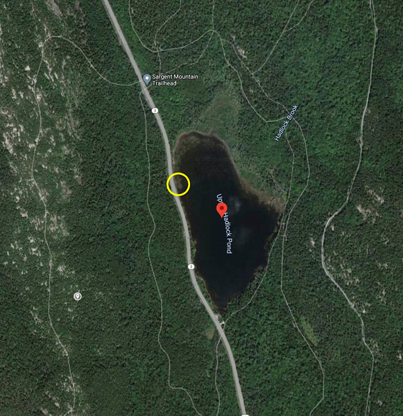 UPPER HADLOCK POND SATELLITE VIEW