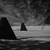 Obelisks & Bench (1), Magnuson Park, Seattle (February, 2014)