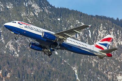 British Airways Airbus A320-232 G-EUUY 12-14-19