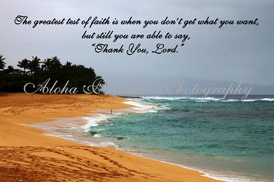 THANK YOU LORD, SUNSET BEACH, OAHU