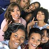 "Carla Stephens, Reece Odum, Xaviera, Dedra Allen and Monica Elam attend Demetria McKinney's 2nd Annual ""Because Of You"" Pre-Mothers Day Brunch - May 7, 2017"
