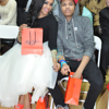 Demetria McKinney and her son attend BE Magazine: No Wire Hanger Fashion Show - November 16, 2014