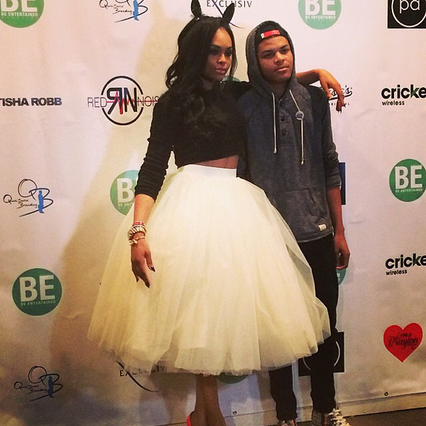 Demetria McKinney and her son attend BE Magazine: No Wire Hanger Fashion Show - November 16, 2014