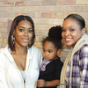 Jazamin McCurdy, her son & Demetria McKinney attends the 'Black Women's Roundtable' on October 22, 2011