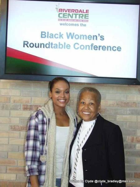 Demetria McKinney attends the 'Black Women's Roundtable' on October 22, 2011