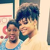 Gwen Redding and Demetria McKinney at Clark Atlanta University - Jazz WCLK 91.9 - September 20, 2017