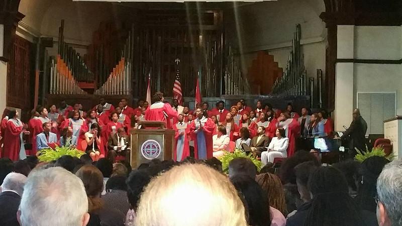 Demetria McKinney attend Deforest Chapel Talladega College - September 23, 2015