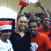 Demetria McKinney at Stone Mountain High and Freedom Middle School to support 'Toyz N Da Hood' - December 16, 2011