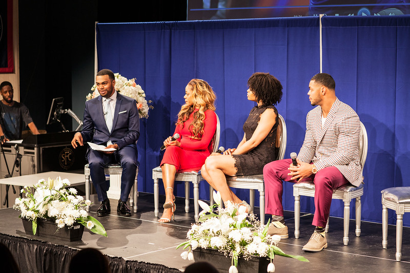 Demetria McKinney, Latavia Roberson and Johnathan Casillas attend The Phill Taitt Show - Dream Reach Inspire - April 29, 2017 in Brooklyn, NY