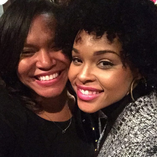 Sojourner Grimmett and Demetria McKinney attend the To Live and Dream Again Benefit Dinner - December 18, 2015