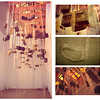 """These are Their Stories""<br /> Installation <br /> 80 Bricks, Shear Ribbons <br /> & 500 lbs of Sand<br /> May 2005<br /> <br /> When I moved to New York City, I began collecting bricks from all over the world and realized that I was fascinated by a tactile sense of history that I felt within the material, and I wanted to express its individuality. In the installation These Are Their Stories (2005) each brick has its own history, story and life. In a way they are like people, each one being a product of its culture. Some have a longer history: who made them, where they were used and for what purpose, when they were taken out of their location, and where they were collected. Other, newer bricks have shorter stories or even unknown stories. The length of each story can be seen by the length of the ribbons hanging down from each brick. <br /> <br /> The installation emphasizes that they are being supported, rather than supporting a structure—as in their usual function—allowing the weight of each brick to be expressed, and at the same time contradicting their mass by looking virtually weightless. I feel that each one of them represents a suspended soul. I do not want the viewer to merely observe the installation, I want them to engage with it. I would like viewers to walk through the space, take their shoes off and let the sand pass through their toes. Pass their fingers over the fabric; read the text on the ribbons. Examine the bricks; touch their surfaces and even smell them."