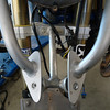 This is the front grab bar/beak support framework with the upper and lower trim and fender removed.<br /> Mount the ballasts to the lower bar.