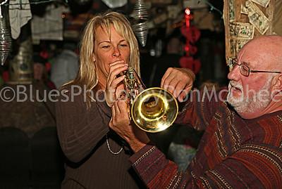 Marty Cohen teaching trumpet