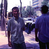 Me (andy) on a mexican street with a purchase a candle holder, we were trying to get a taxi to the hotel