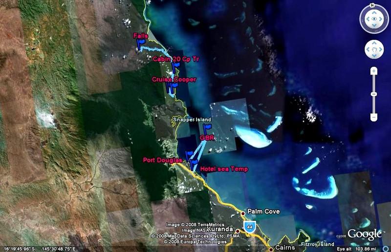 Great Barrier Reef, Australia underwater coral pictures map of great barrier reef australia and Hotel Sea Temp