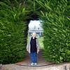 Betty Carlson in an arbor