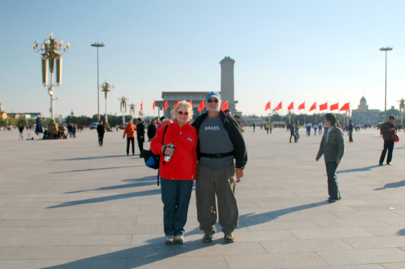 Tiananmen Square Betty and Andy Beijing China