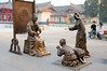 bronze street sculpture street scenes, China