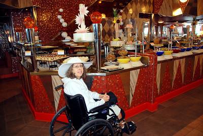 Patti at the buffet Lido 10
