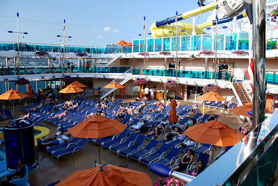 The Carnival Dream. pool area deck