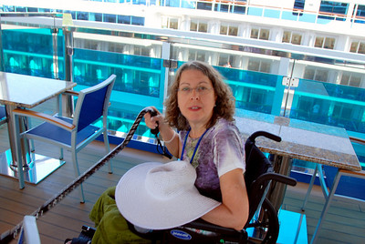 The Carnival Dream Patti White in the chair