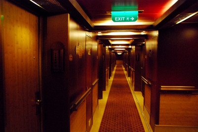 The Carnival Dream  spa room hallway