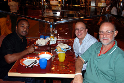 The Carnival Dream, dinner with the comics of the show