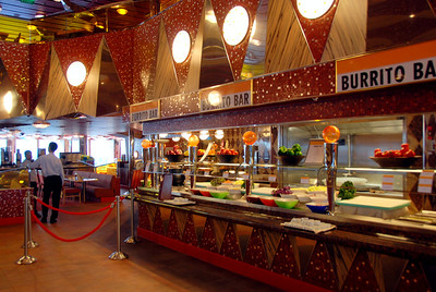 The Carnival Dream deck 10 food bars