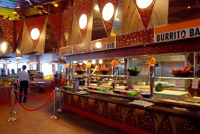 The Carnival Dream deck 10 food bars