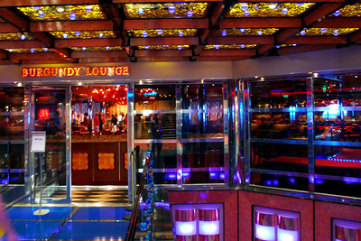 The Carnival Dream, Burgundy Lounge entrance