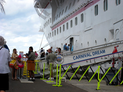 all aboard, Nassau, Bahamas on the Carnival Dream