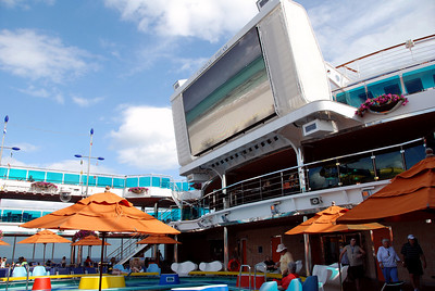 Carnival Dream outdoor theater and pool area