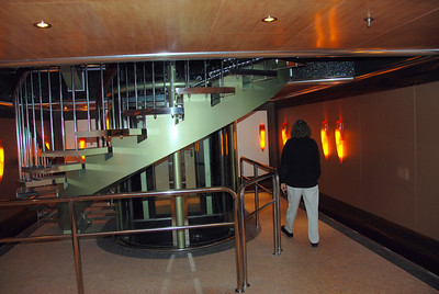 stairs up in spa area, near the private elevator Dream Spa carnival dream spa deck room photos