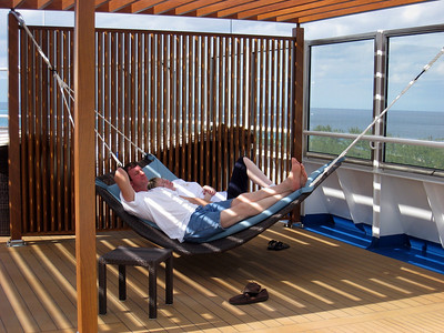 Hammock built for two on the serenity deck Dream Spa carnival dream spa deck room photos