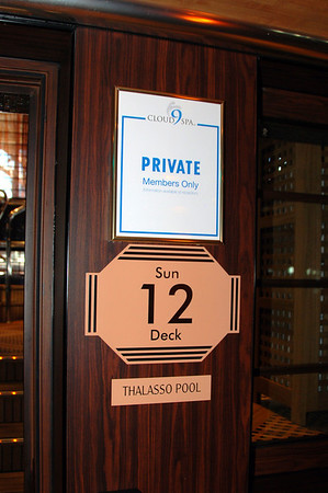 Thalasso Pool entrance on 12 Dream Spa carnival dream spa deck room photos, Thalasso pool