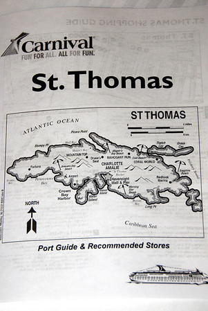 St Thomas Virgin Islands map 2010