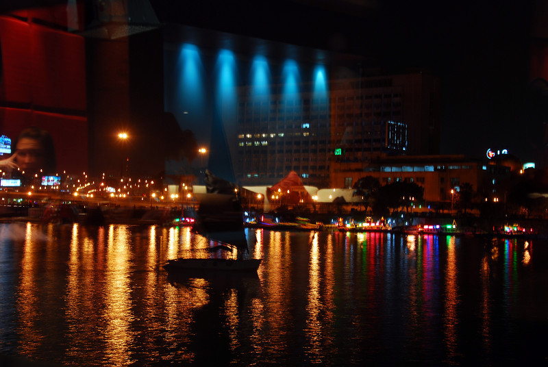 Lights on the Nile River, Egypt