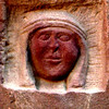 Wadi Rum Jordan carving of Lawerence of Arabia in stone,