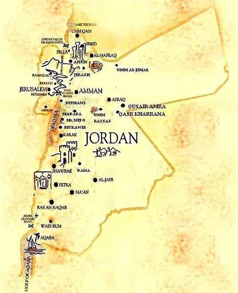 Map Of Wadi Site Dedicated To Rum-Jordanian Desert