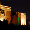 Philae Temple Agilkia Island night pictures