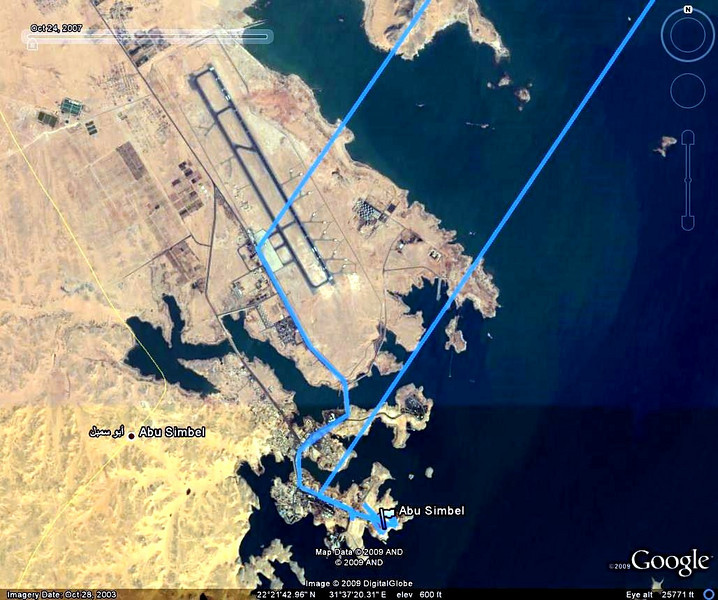 Abu Simbel GPS map showing monument and airport enlarge the map to see the monument site with pictures of ramses II