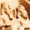 Ramses II Lake Aswan Abu Simbel side up