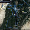 LUXOR TEMPLE, EGYPT GPS TRIP MAP OF OUR TRAVELS SHOWING BALLOONING START AND END