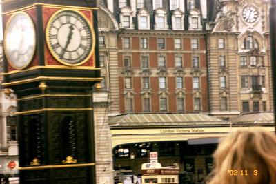 tube station west end, big ben