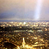 PARIS, VIEW FROM THE EIFFEL TOWER AT NIGHT,